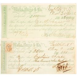 Gold Hill & Virginia City, Wells Fargo Territorial Certificate of Deposit  (99690)