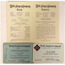 Wells Fargo Passes and Rare Booklet  (100067)