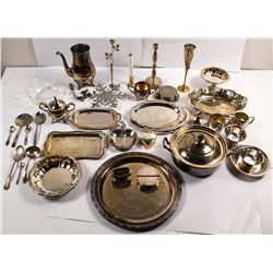 Group of Silver Plate Items  (56840)