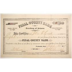 PInal County Bank Stock  (77022)