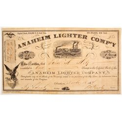 Anaheim Lighter Company Certificate - Shipping Wine  (89402)