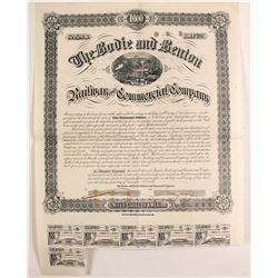 Bodie & Benton Railway Company Bond  (76048)