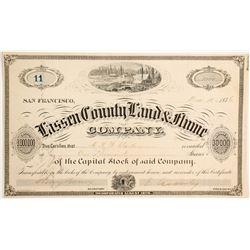 Lassen County Land & Flume Company Stock  (90450)