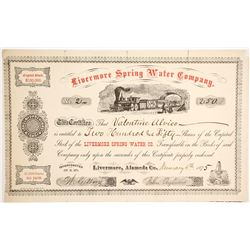 Livermore Spring Water Company Stock - NUMBER 2  (90449)
