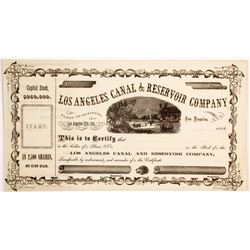 Los Angeles Canal & Reservoir Company Stock  (90452)