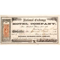National Exchange Hotel Company Stock  (88177)