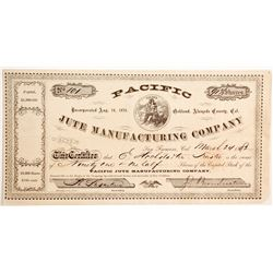 Pacific Jute Manufacturing Company Stock  (90461)