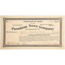Pasadena News Company Stock  (90464)