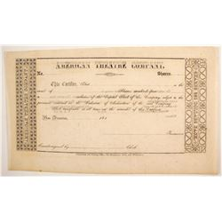 Gold Rush Theater Stock Certificate  (89400)