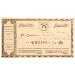 Pacific Ensign Company Stock - Another Company Incorporated and Run by Women   (90462)