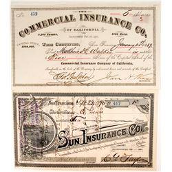 Two California Insurance Company Stocks  (88172)
