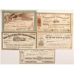 Five nice San Francisco Stocks  (88167)