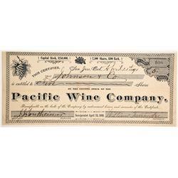 Pacific Wine Company Stock  (90446)