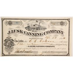 J Lusk Canning Company Stock  (90498)