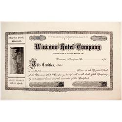 Unused Wawona Hotel Company Stock  (88176)