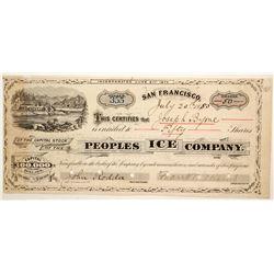 People's Ice Company Stock  (91049)