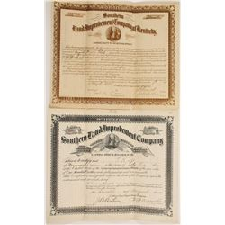 Kentucky Land Improvement Stocks (2)  (90608)
