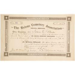 Helena Cemetery Association Stock  (90406)