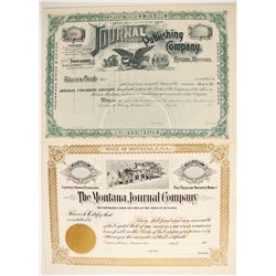 Two Helena Publishing Stock Certificates  (77064)