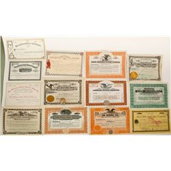13 Montana stock certificates   (91046)