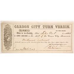 Carson City Turn Verein Stock  (88726)