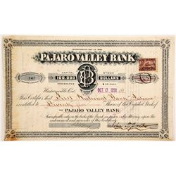 Pajaro Valley Bank Stock  (90421)