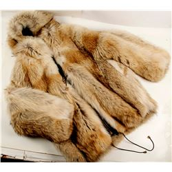 Canadian Coyote Fur Hooded Jacket XL  (76263)