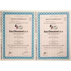 2 Tickets to Euro Disneyland S.C.A.  (91044)