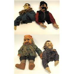 Four Political Puppets from Katherina Bekleshova, c1940's  (56866)