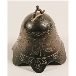 Antique brass table bell or gong  (40739)
