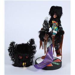 Black Kachina in glass  (87815)