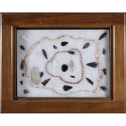 Bead necklaces,Obsidian Points (Great Basin origin)   (87770)