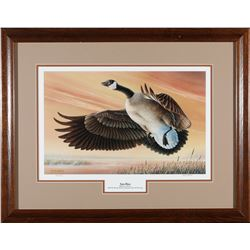Framed Ducks Unlimited Goose Print by William Moore  (87613)