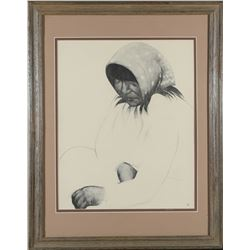 Framed Native American Print by Caples  (87658)