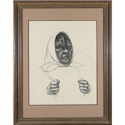 Framed Native American Woman Print  (87660)