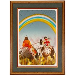 Along the Rainbow Trail Litho by Earl Biss  (101008)