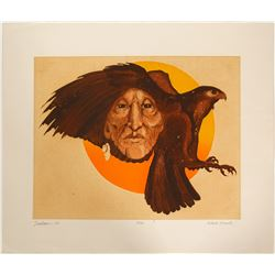 Black Hawk - Serigraph by Bert Seaborn  (101054)