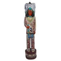 Carved Wood Indian by Gallagher  (90698)