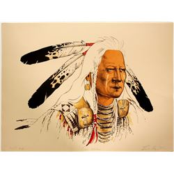Crow Warrior - Serigraph by Enoch Kelly Haney  (101058)