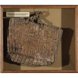 Framed Native American Basket/Bag  (87650)