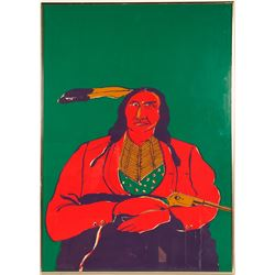 Indian With a Gun - by Fritz Scholder  (101013)