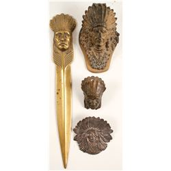Native American Metal Household Items (4)  (89326)