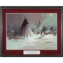 Tepee and Horses Print  (87627)