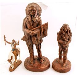 Three  Indian Statues  (87748)