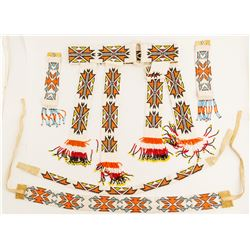 Paiute Beaded Belt, Wristbands, and Headbands  (52165)