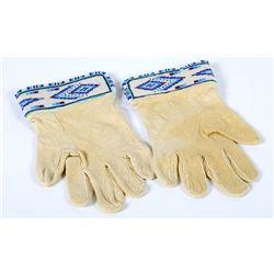 Beaded Buckskin Gloves  (87507)