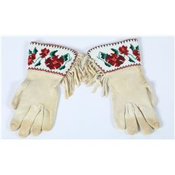 Beaded Gloves, (Native American) Women's size  (87505)