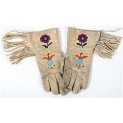 Beaded, Fringed Gloves (Women's Size)  (87504)
