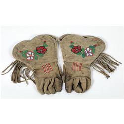 Gauntlets, Paiute Fringed Gloves  (87508)