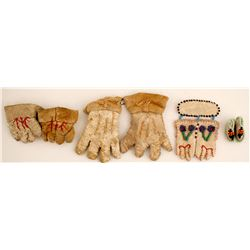 Miniature Gloves and Moccasin Pins  (87521)